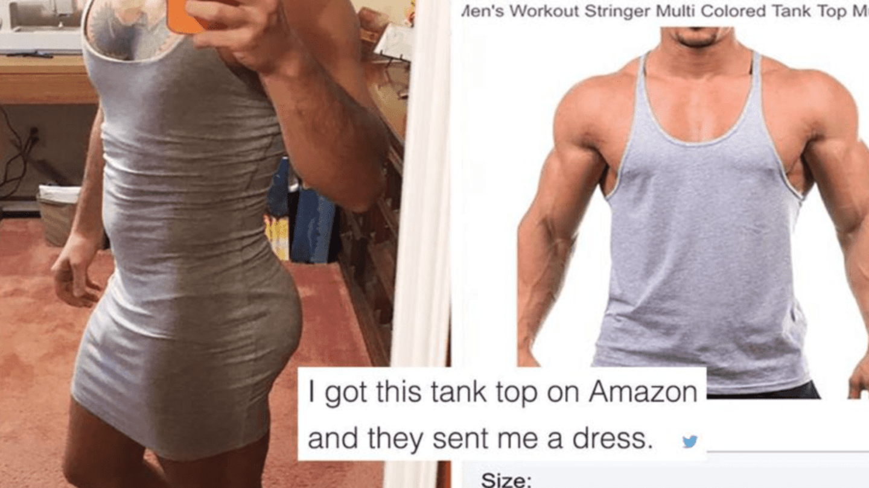 Místo tílka mu dovezli šaty.