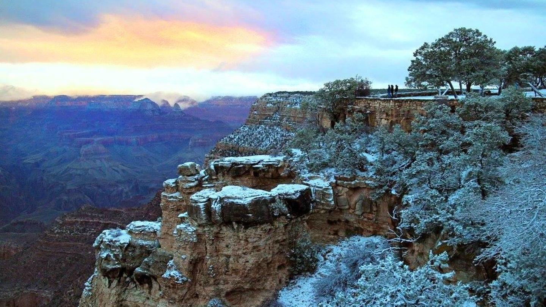 Grand Canyon a jeho nejkrásnější zimní fotografie