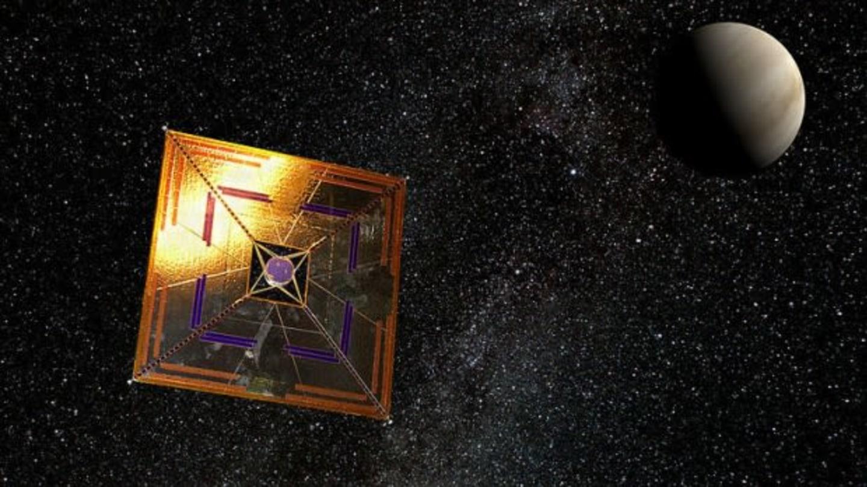 Solární plachetnice, zdroj: NASA