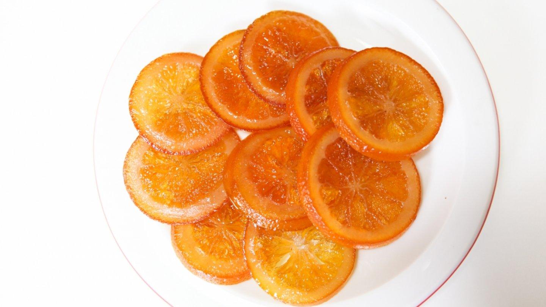 Kandované pomeranče na ozdobu