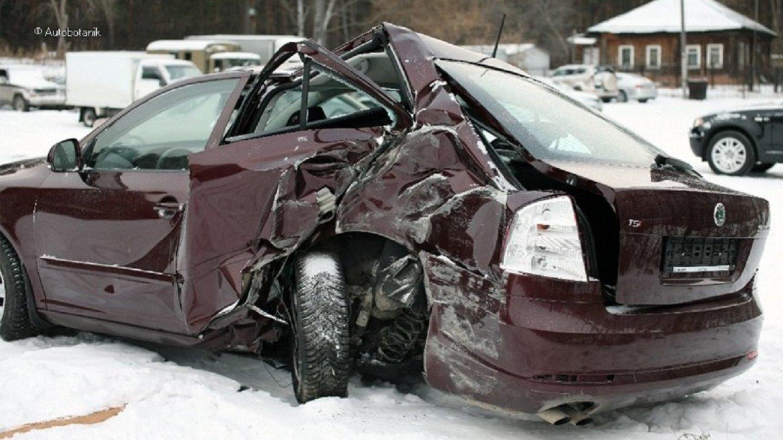 Takto vypadala Octavia po nehodě.