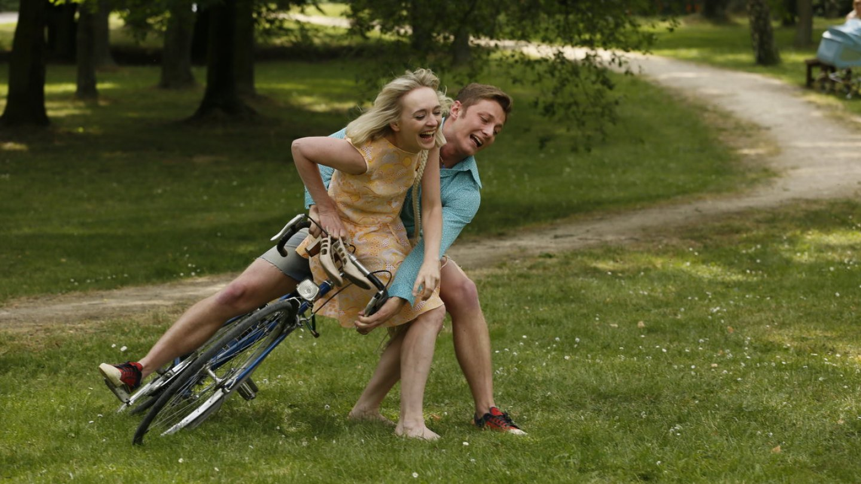 David vlastně vždycky jezdil na kole. A já s ním.