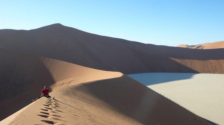 Sossusvlei v Národním parku Namib Naukluft, Namibie.