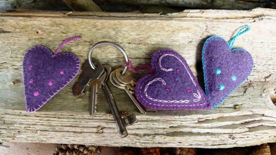 Srdíčko na klíče, jako drobná vánoční pozornost
