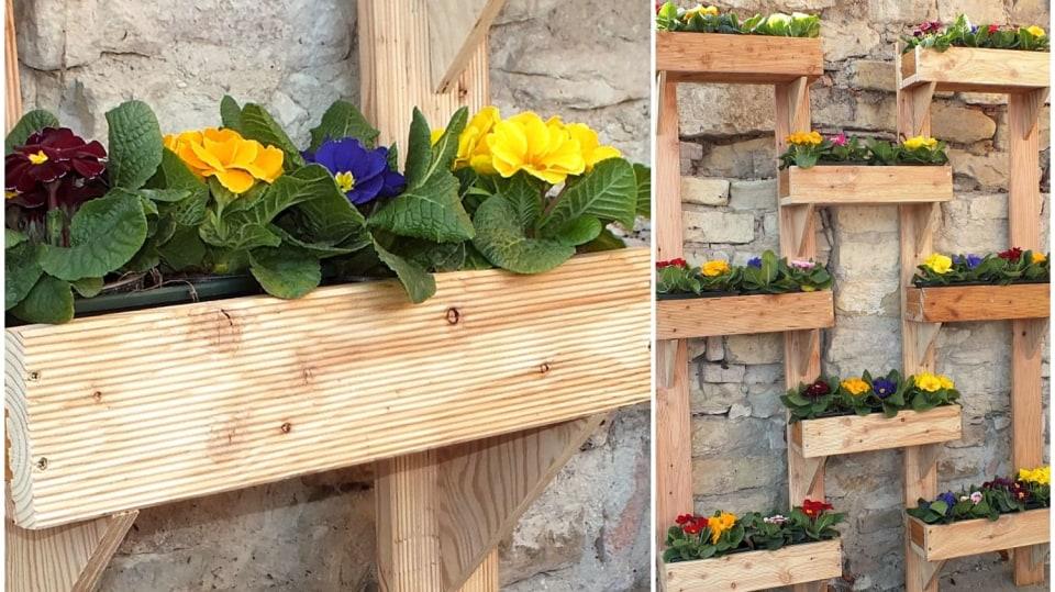 Truhlíky na květiny, bylinky i zeleninu aneb Zahrádka nastojato
