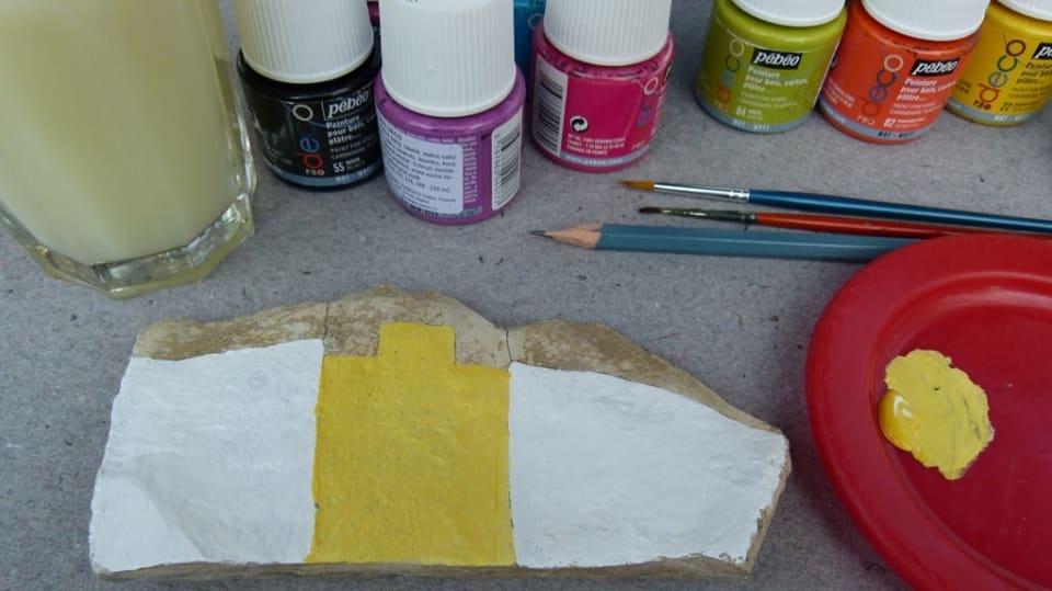 Jak namalovat městečko na opukový kámen: Dekorace nejen do zahrady 5