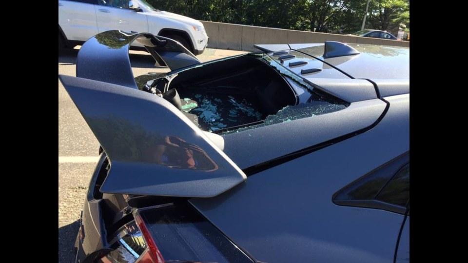 Honda Civic Type-R nehoda 4
