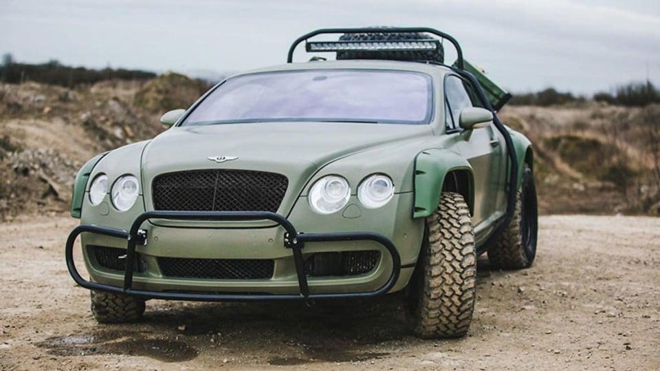 Bentley Continental GT jako terénní průzkumník. 2