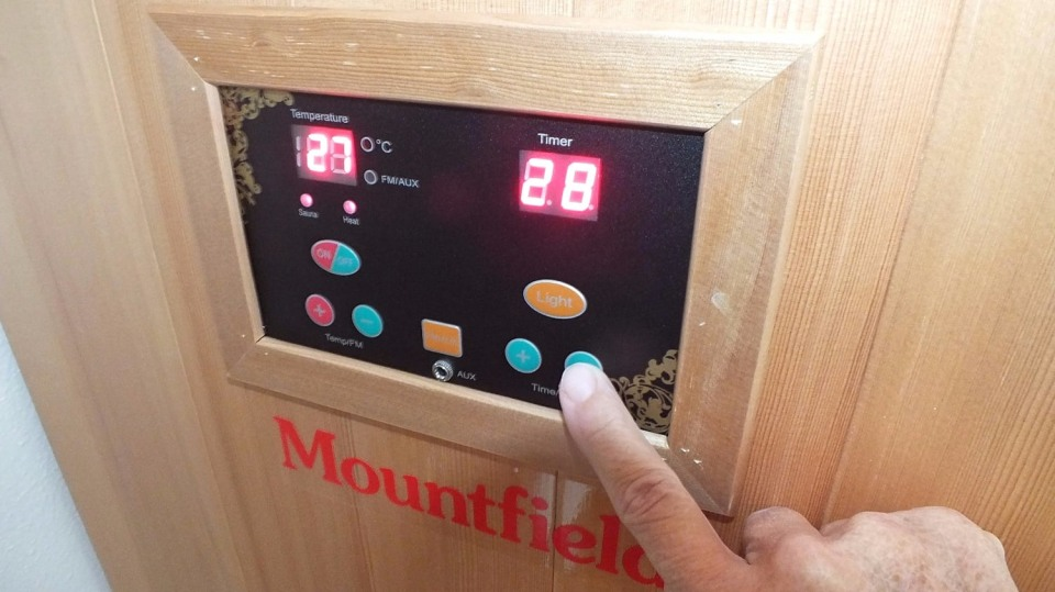 Nastavíme teplotu a dobu saunování
