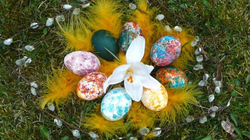 Velikonoční barvení vajec trochu jinak: Mramorované kraslice
