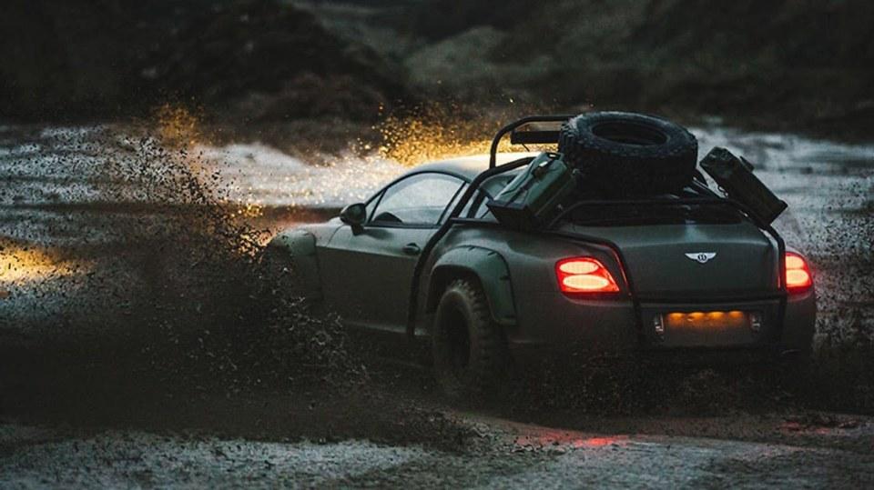 Bentley Continental GT jako terénní průzkumník. 4