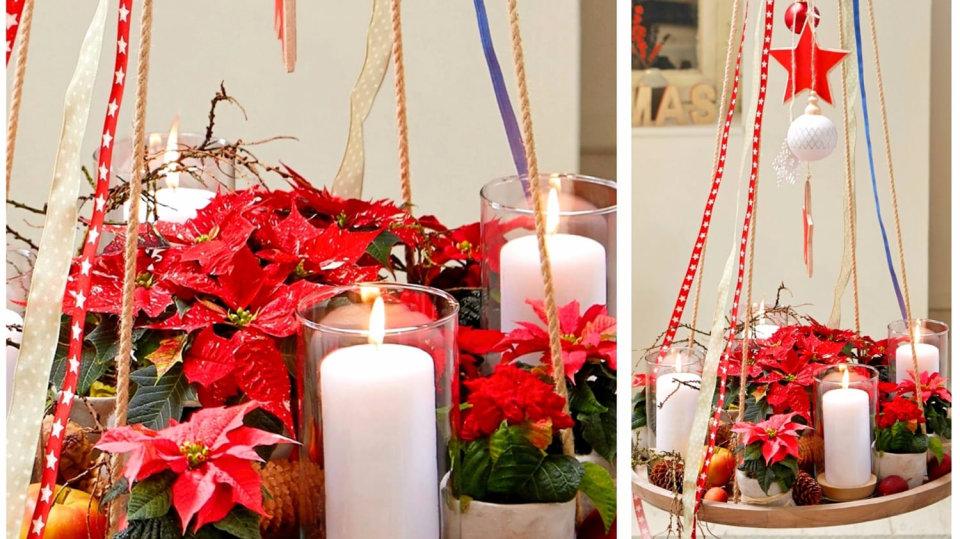 Rozkvetlý adventní věnec prozáří Vánoce