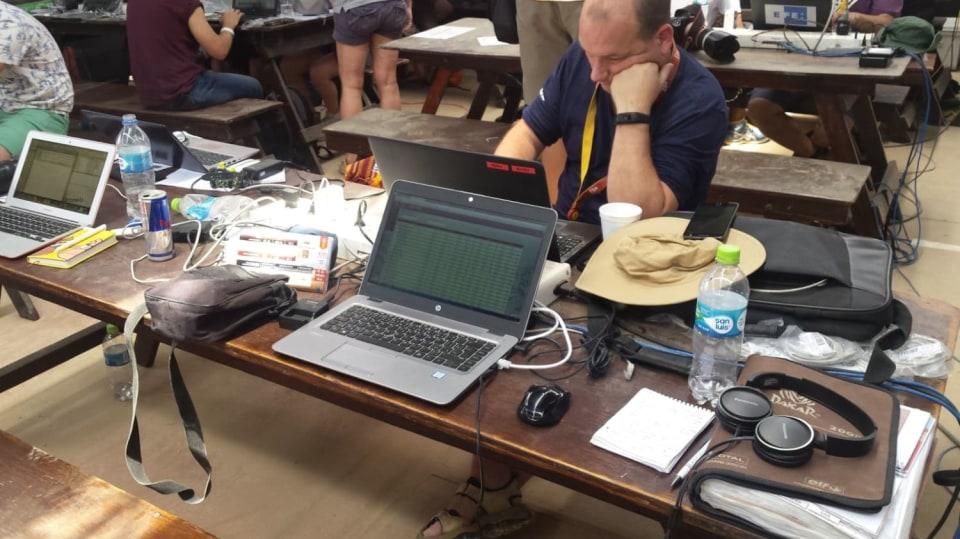 Pracovní místo reportéra na Dakaru