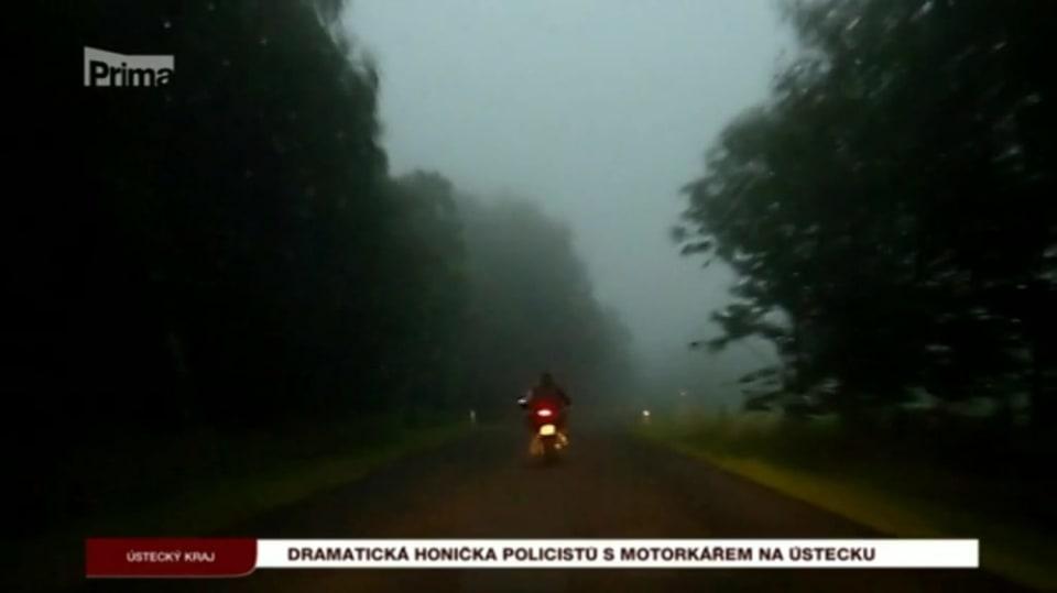 11. 8. 2017 KRIMI: Dramatická honička policistů s motorkářem na Ústecku