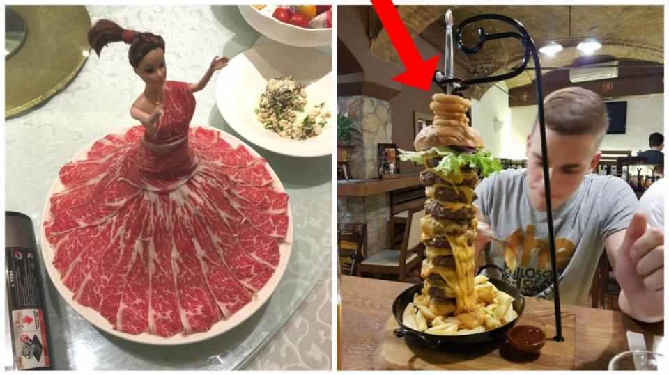 Servírování jídla z kategorie WTF?!?