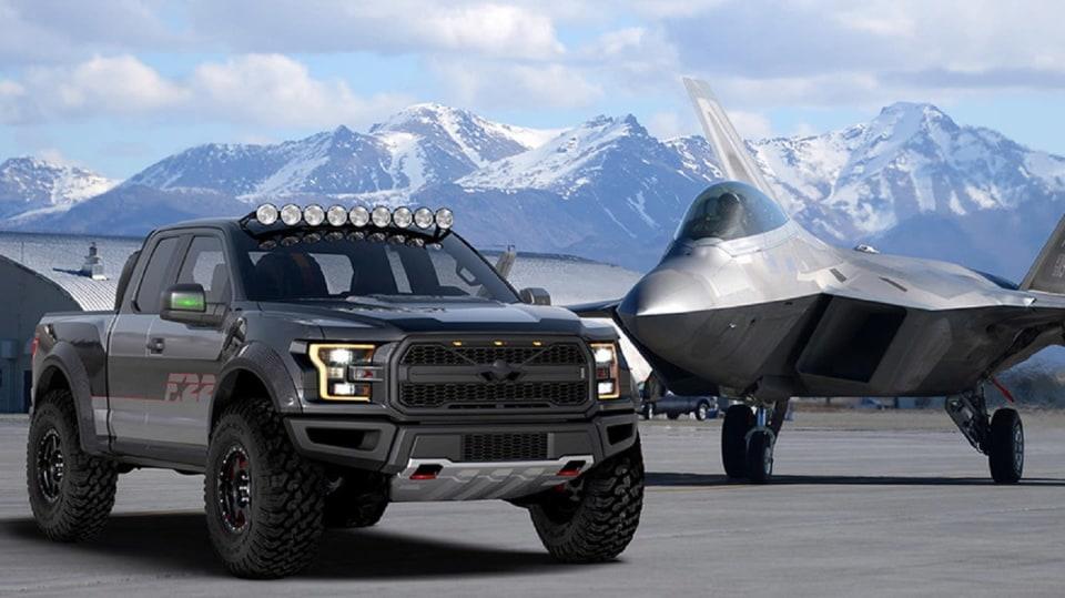 Ford postavil extrémní Raptor inspirovaný neviditelnou stíhačkou 6