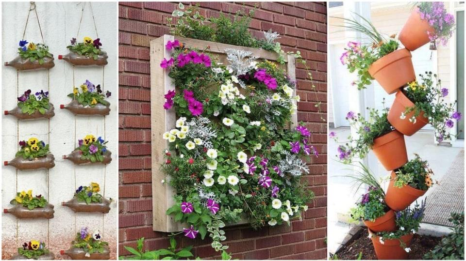 Truhlíky, závěsné kapsy i osázené zdi aneb Když se místa nedostává, vybudujeme vertikální zahradu
