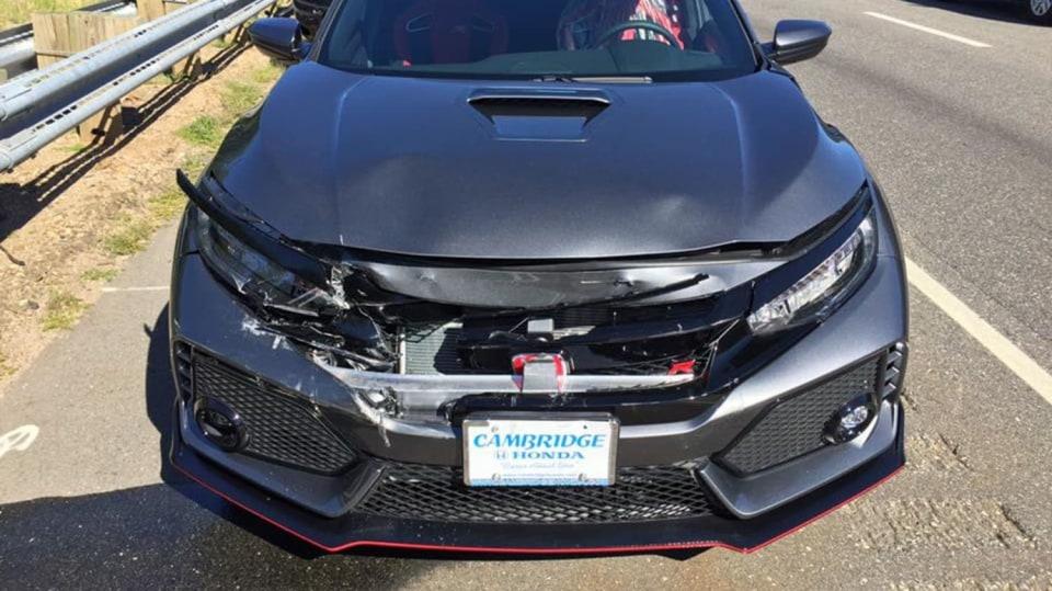 Honda Civic Type-R nehoda 5