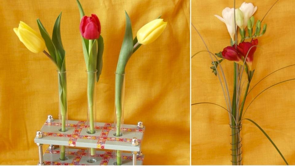 Jak udělat nevšední stojánek na květiny se zkumavkami