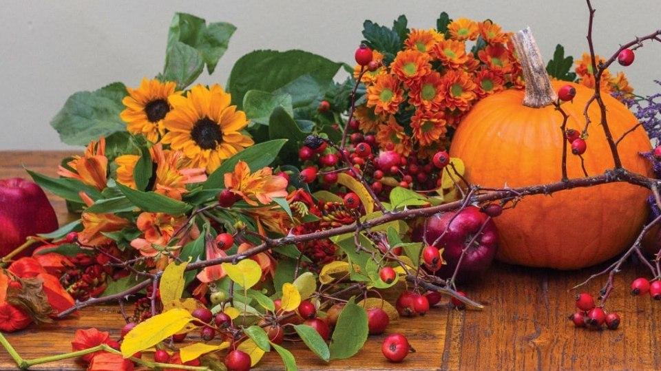 Aranžmá s dýní: Podzimní dekorace v ohnivých barvách