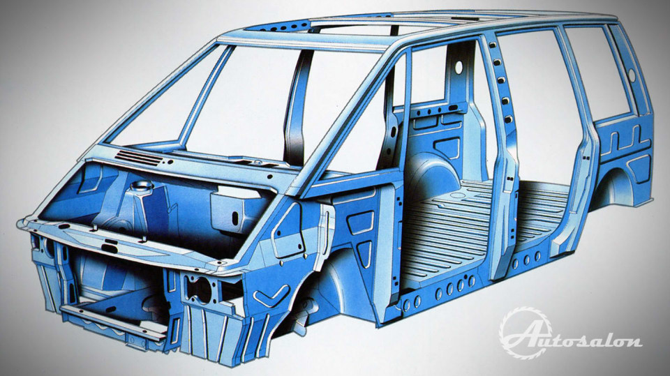 Renault Espace první generace skelet karosérie