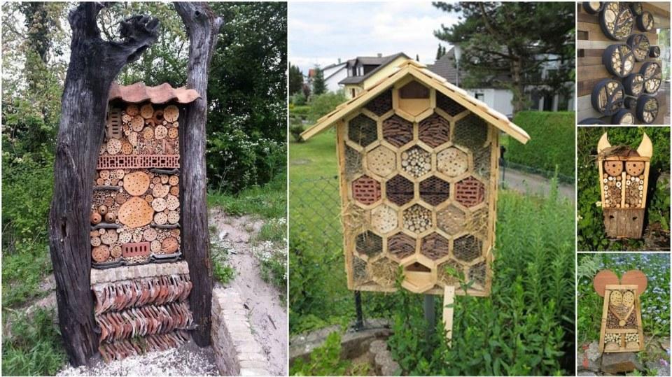 Domečky pro hmyz mohou mít nejrůznější podobu