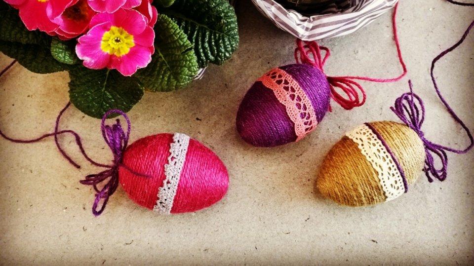 Velikonoční provázkové kraslice