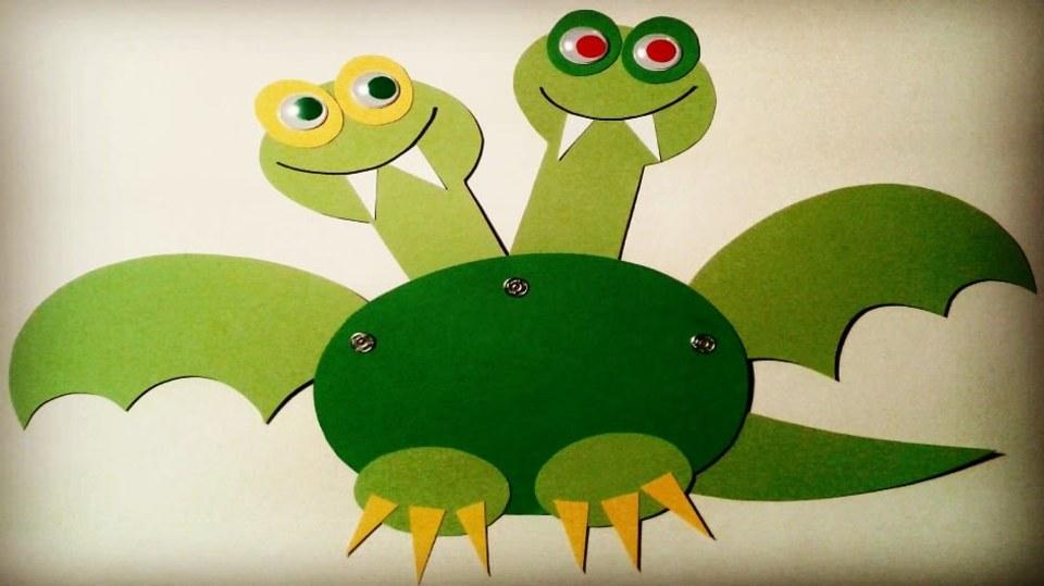 Prima hračka DIY: Jak udělat pohyblivého draka z papíru