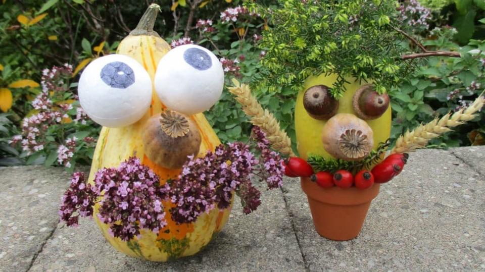 Veselá dětská podzimní dekorace
