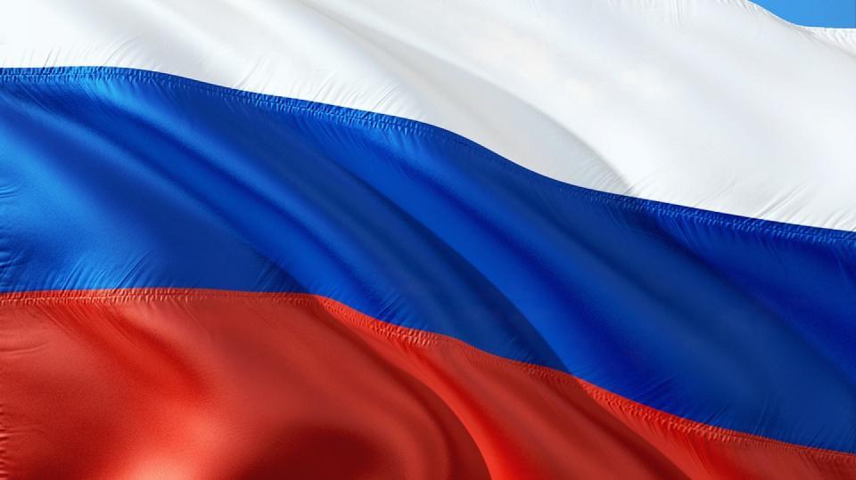 Ilustrační fotografie - ruská vlajka