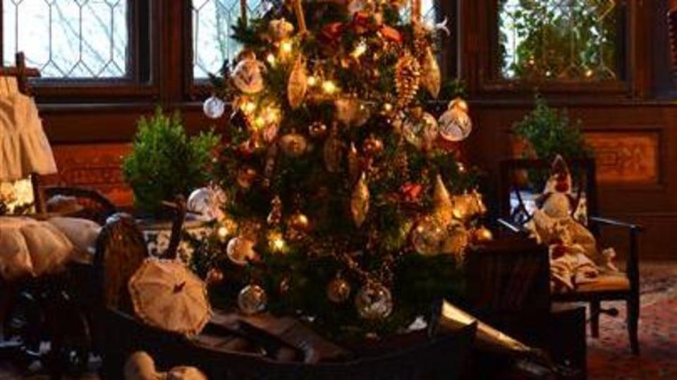 Vánoční stromek na zámku