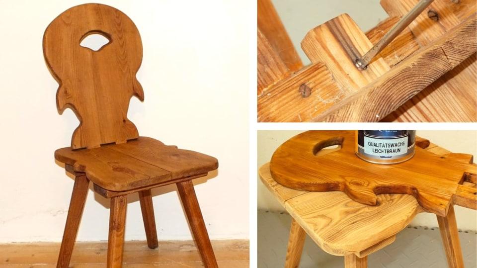 Jak opravit starou židli v selském stylu
