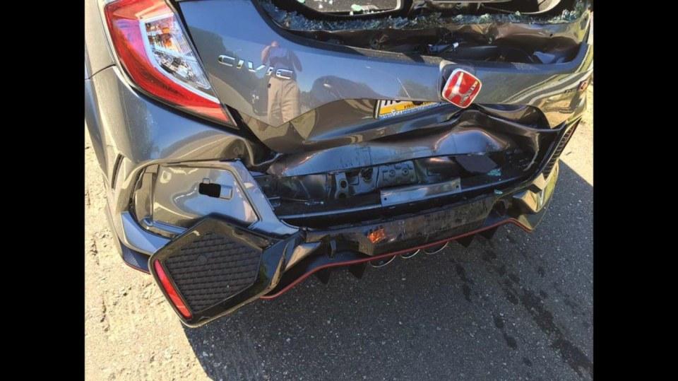 Honda Civic Type-R nehoda 1