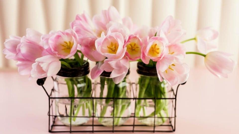 Druhý život zavařovacích sklenic. Tipy na recyklaci skla - vázičky na tulipány