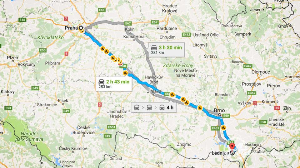 Z Prahy je to k moři 250 km
