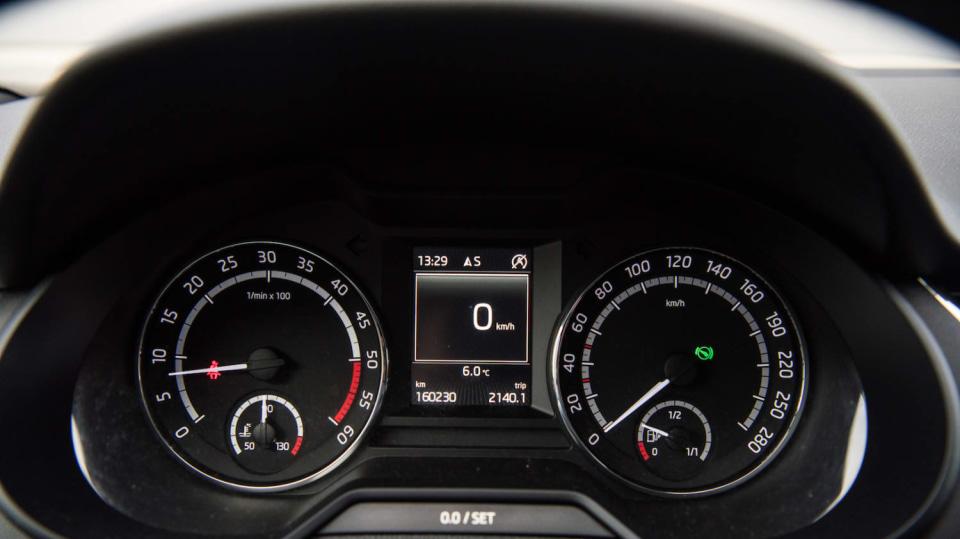 Škoda Octavia RS TDI interiér 1