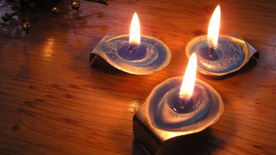 Romantické vánoční svícínky