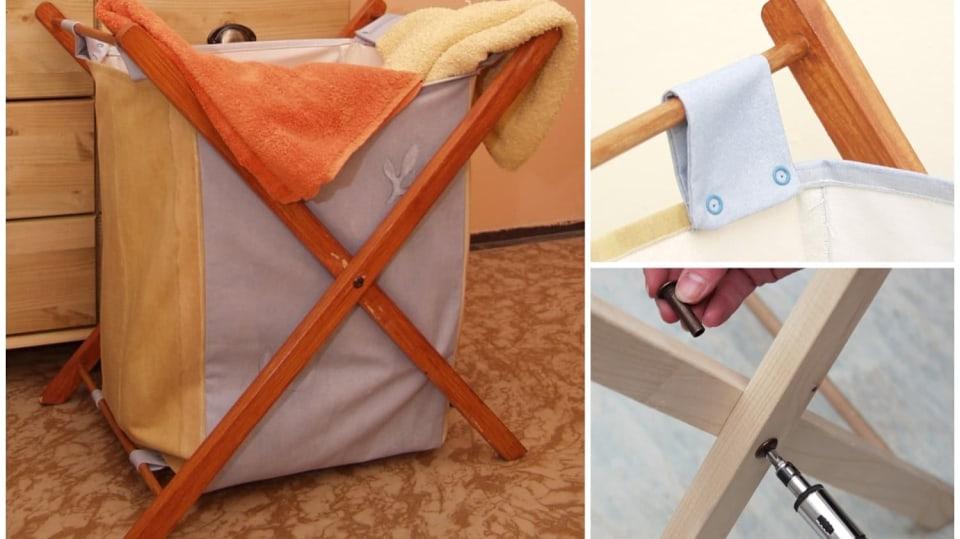 Udělejte si skládací koš na prádlo: Nezabírá zbytečně místo a vejde se všude