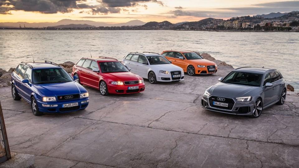 Audi RS4: Řada rychlých stěhováků střední třídy vydržela u Audi dodnes