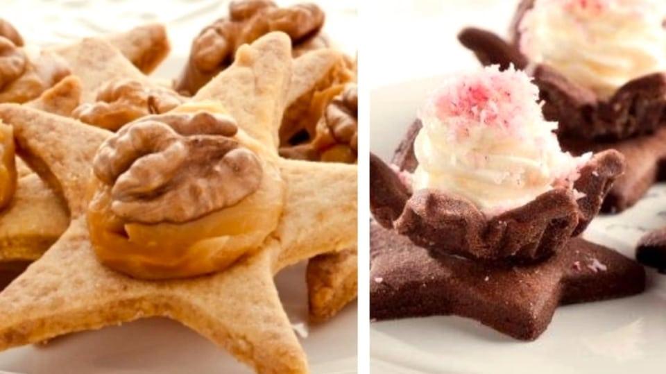 Novinky vánočního cukroví: karamelové hvězdy a rumové květy