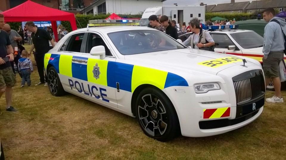 Rolls-Royce Ghost britské policie. 2
