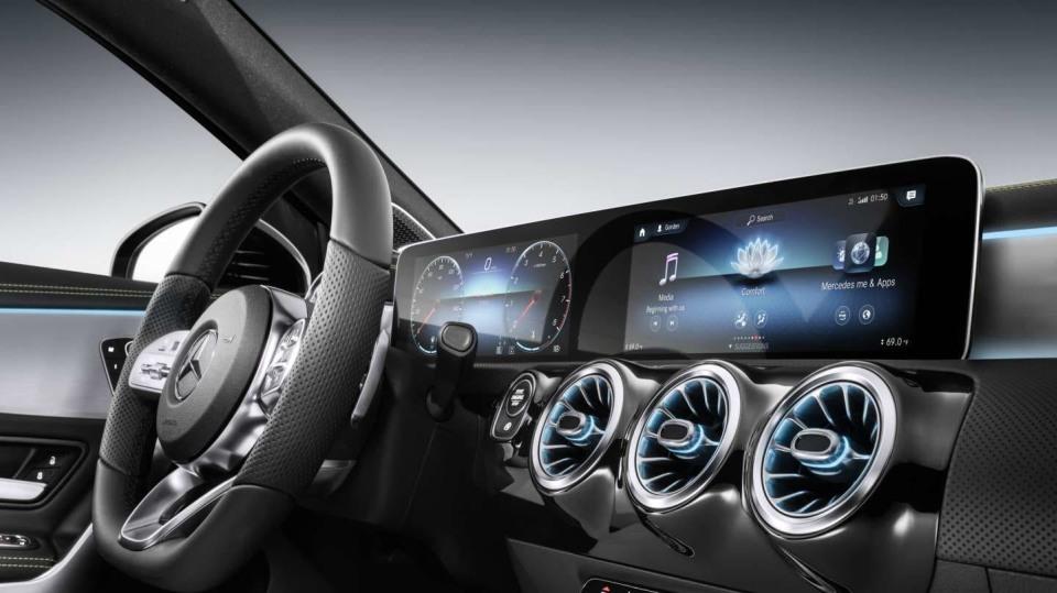Mercedes-Benz třída A interirér