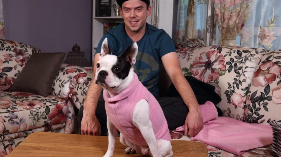 Psí obleček na zimu ze starého svetru
