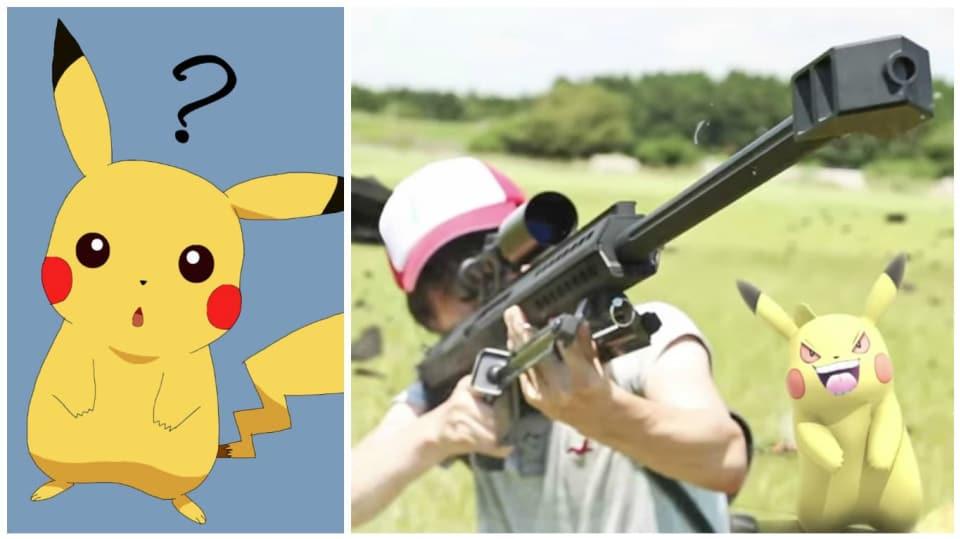 Akční parodie na Pokémon Go