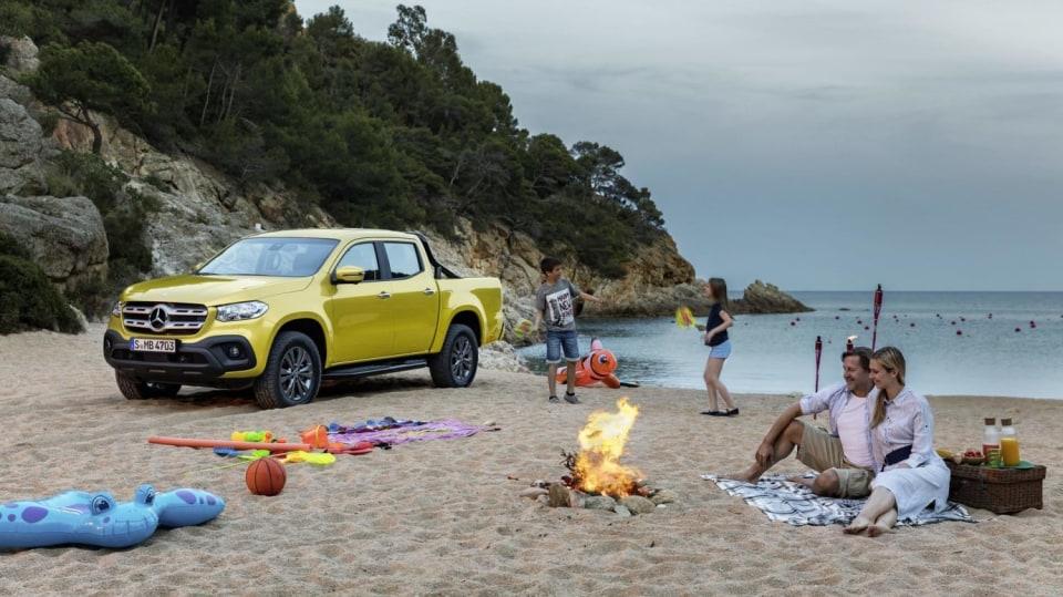 Mercedes třídy X yellow 6