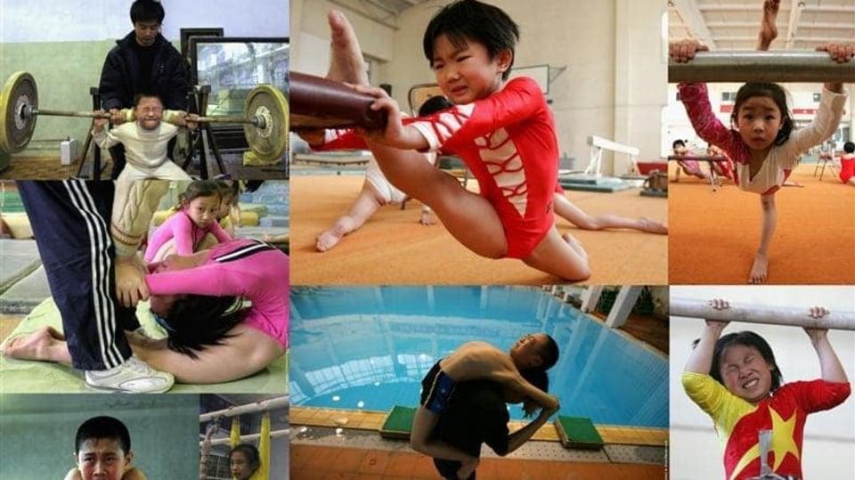 Šokující fotky ze sportovních tréninků dětí v Číně