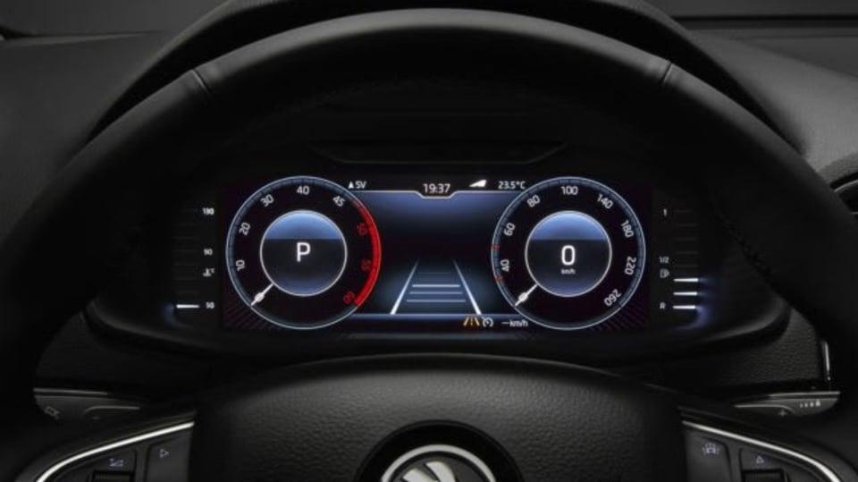 Digitální přístrojový panel Škoda
