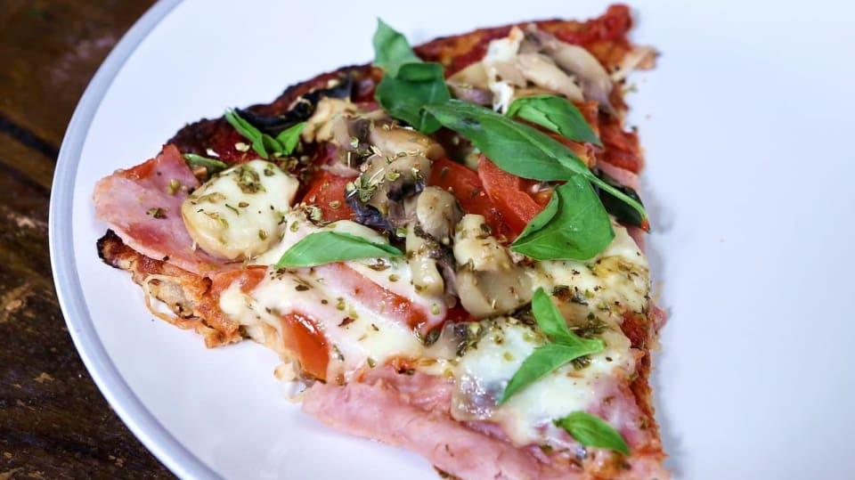 Fitness květáková  pizza