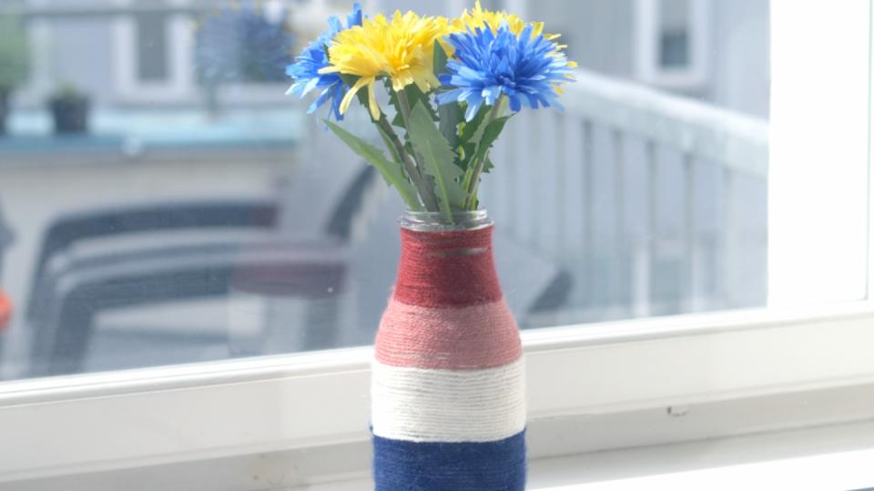Barevná vlněná váza aneb Recyklace je v kurzu 3