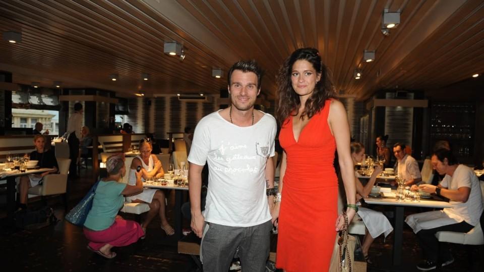 Moderátor Leoš Mareš s Petrou Faltýnovou